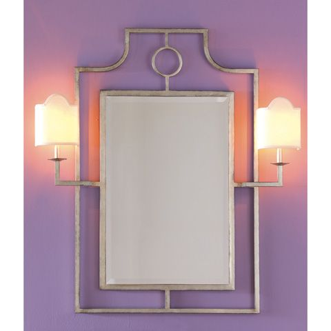 Port 68 - Doheny Silver Mirror with Sconces - ACFS-175-07
