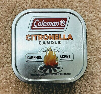 Coleman Scented Citronella Candle Scent with Wooden Crackle Wick 6 oz white  (ebay link)