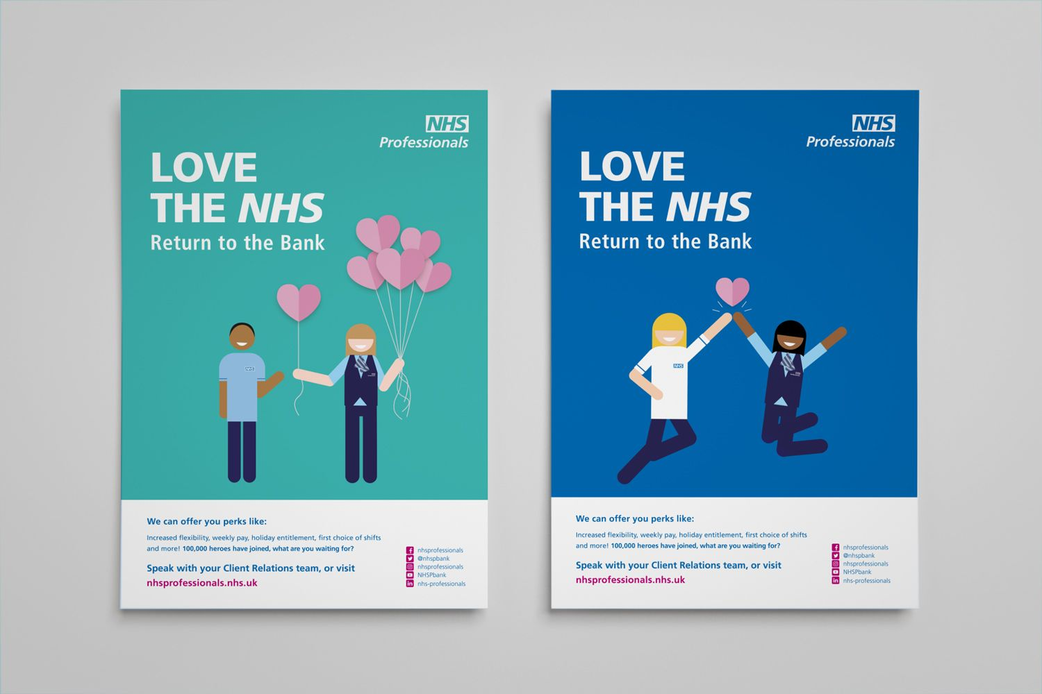 Love The Nhs Healthcare Campaign Poster Flexible Working With