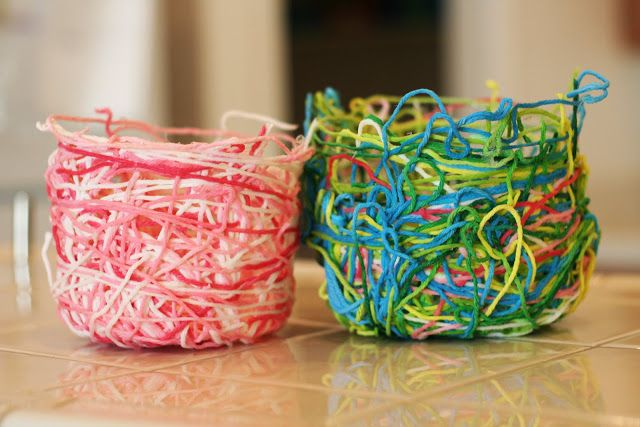 Yarn Baskets Crafts For Seniors Crafts Arts And Crafts