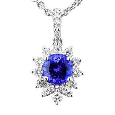 14k white tanzanite and diamond pendant 127 tcw httpwww 14k white tanzanite and diamond pendant 127 tcw httptanzanite mozeypictures Images
