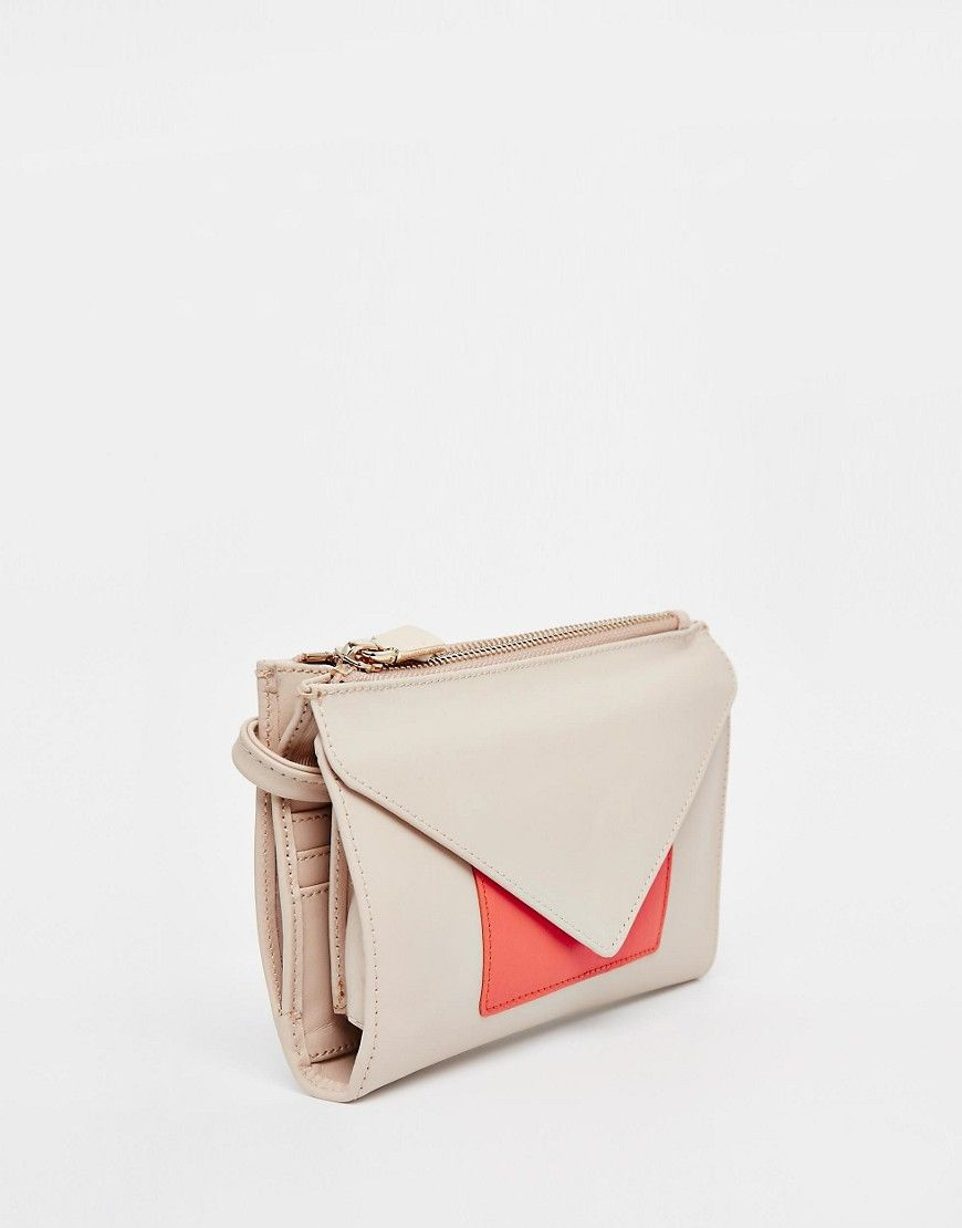 French Connection Leather Envelope Clutch - £41