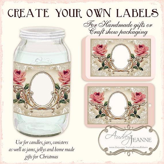 kitchen labels  digital collage sheet ajr