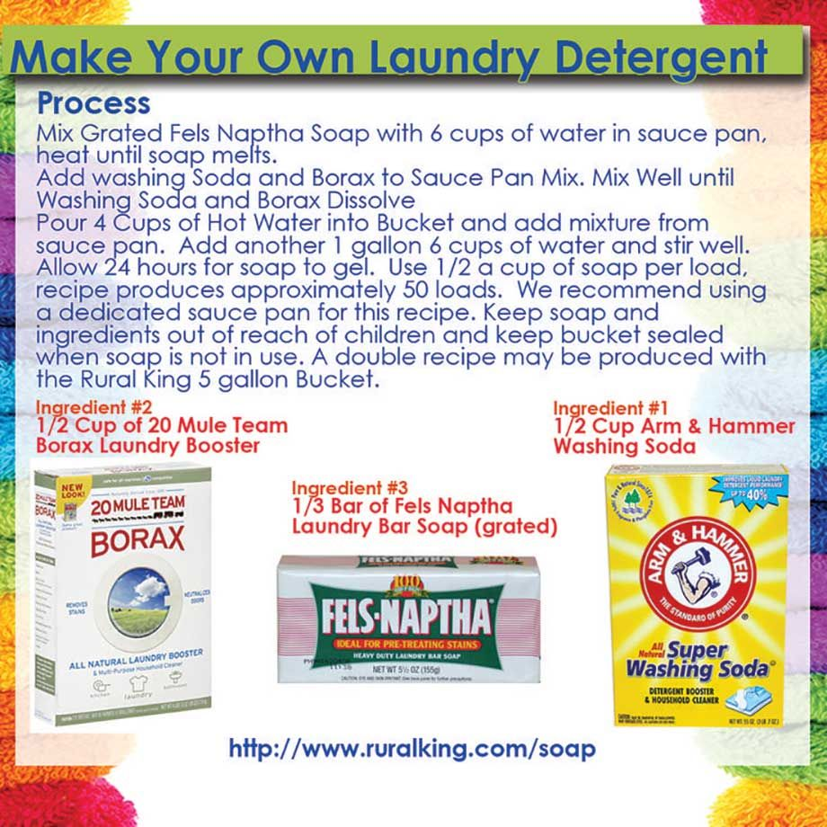 Make Your Own Laundry Detergent Laundry Detergent Natural