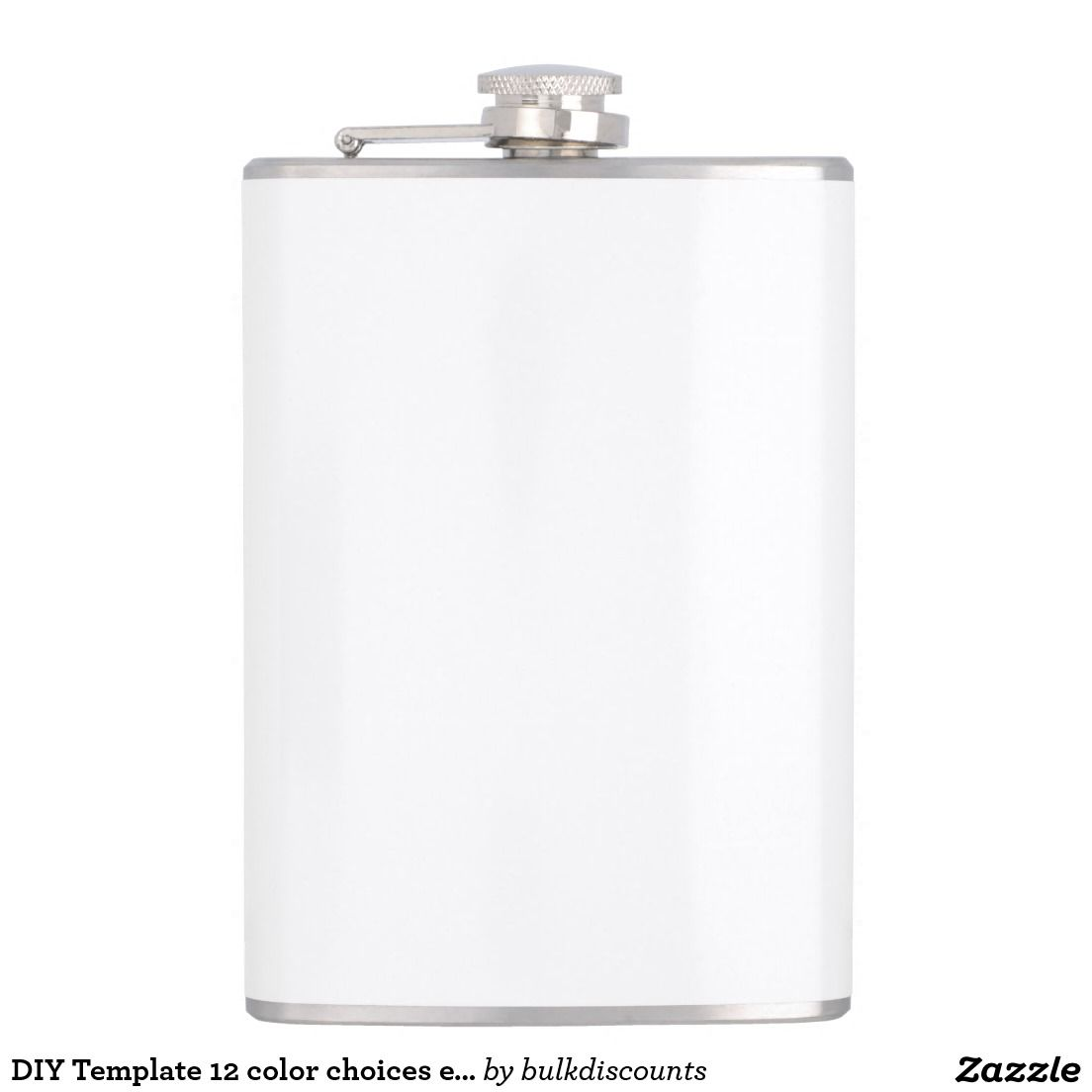 Diy Template 12 Color Choices Easily Add Photo Txt Hip Flask Diy Template Stationery Supplies Flask