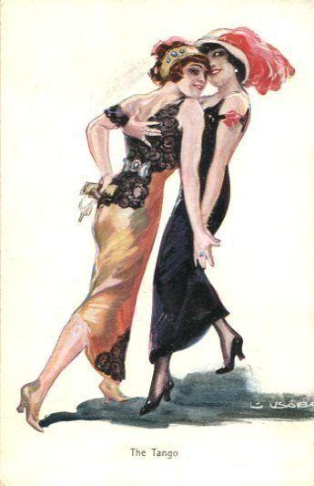 The Tango Vintage Lesbian Art Lesbian Art