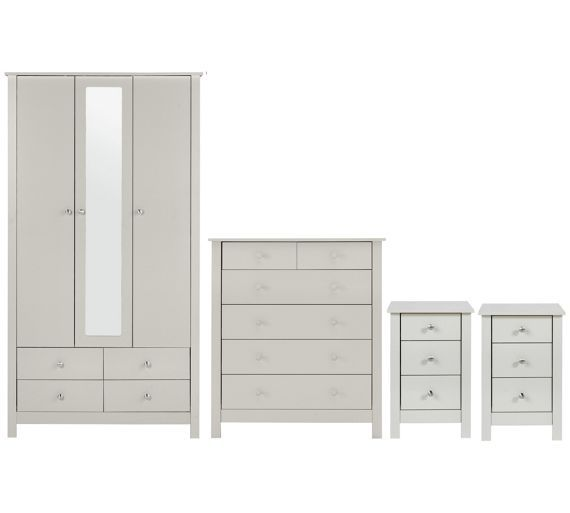 buy collection osaka 4 piece package soft grey at argoscouk - Argos Bedroom Furniture