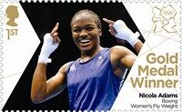 Amazing! Check out the #London2012 #Olympic gold stamp for Nicola Adams!