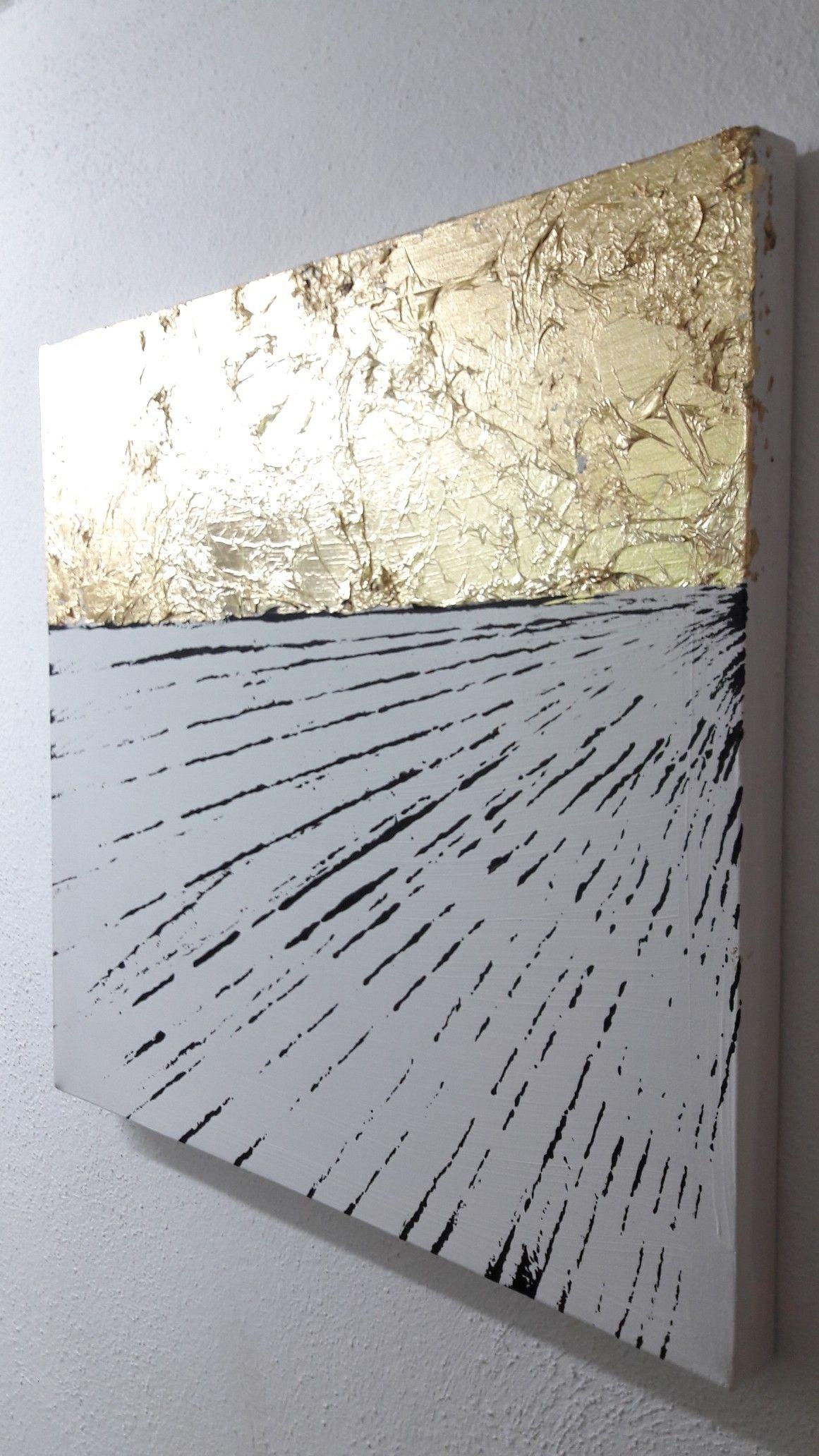 schwarz gold weiss malerei inspiration abstrakt abstrakte etsy kunst acryl leinwand