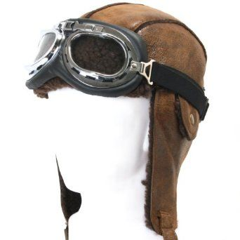 aviator hat and goggles up - Google Search  d14e6c3fb0b
