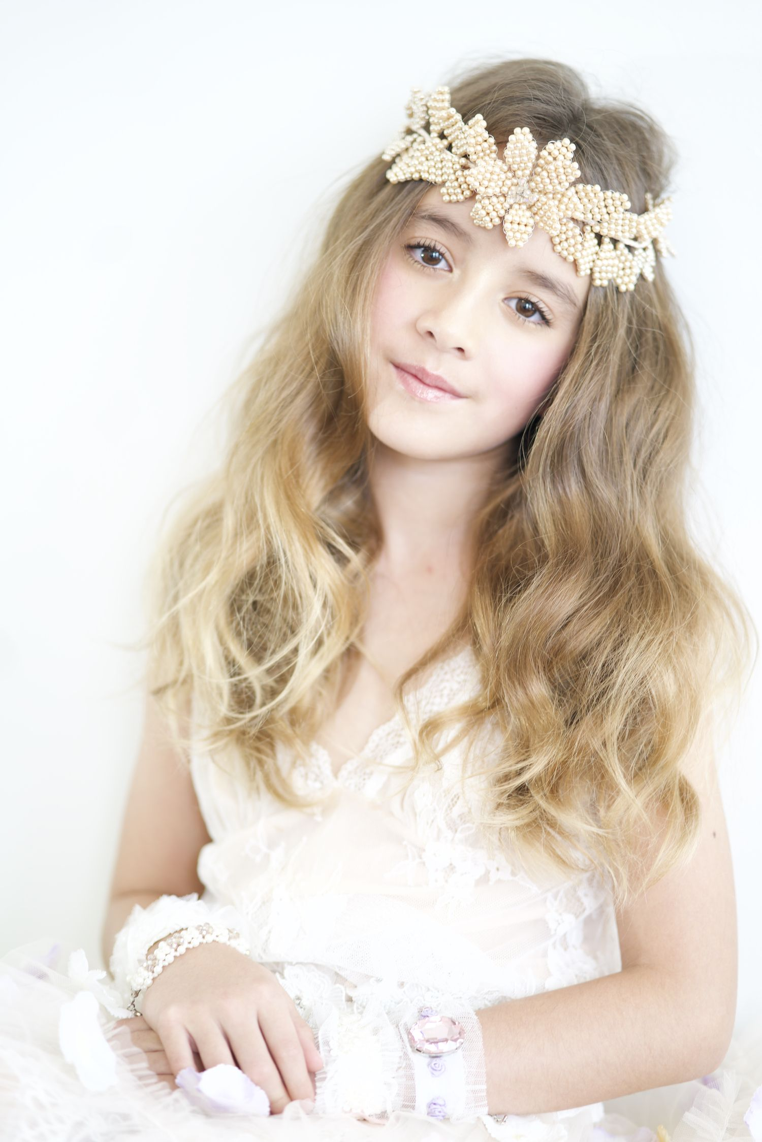Designer hair garland hair garland flower girl