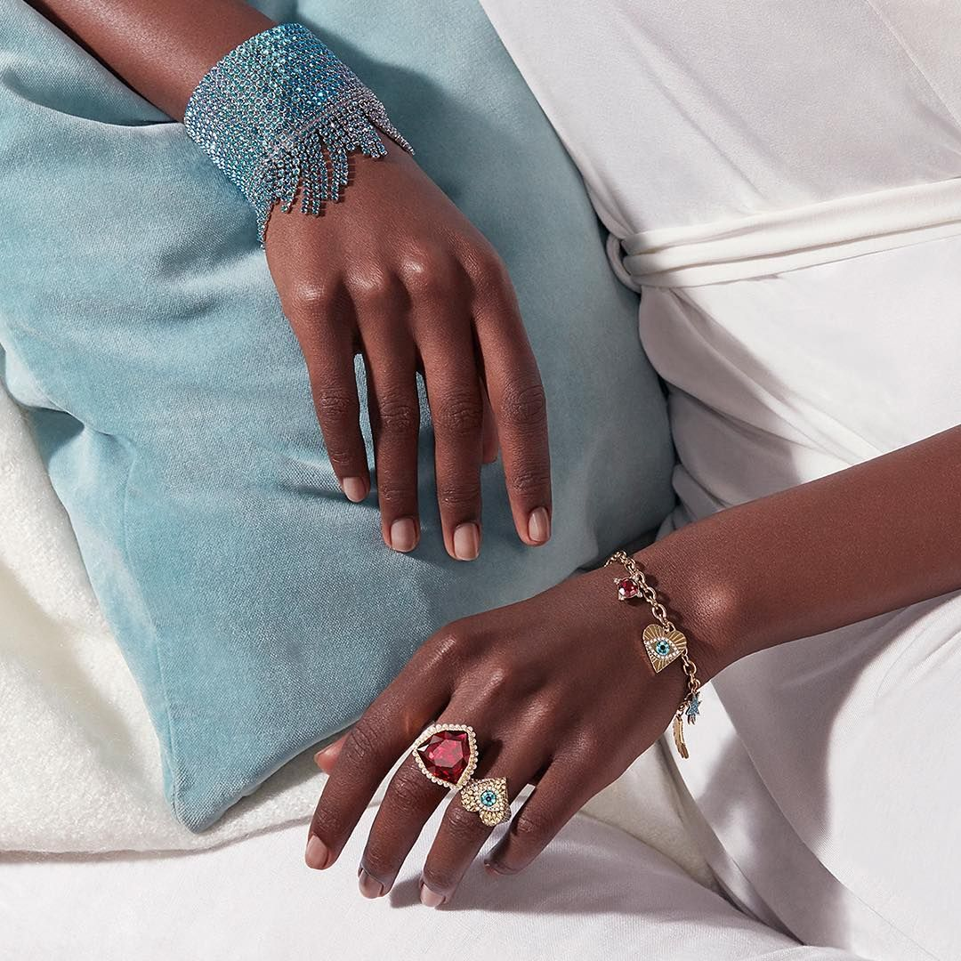 b8680b09eb1dbb The Lucky Goddess Ring and Charm Bracelet paired with our Ocean Breeze Cuff  will ensure all