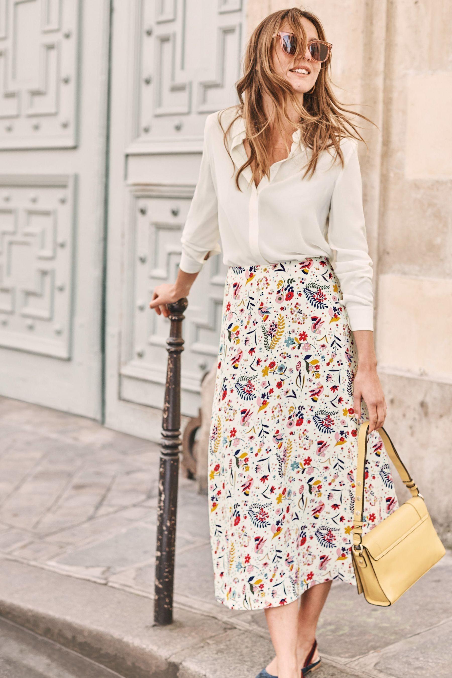 womens boden cream indie midi skirt - cream   high fashion