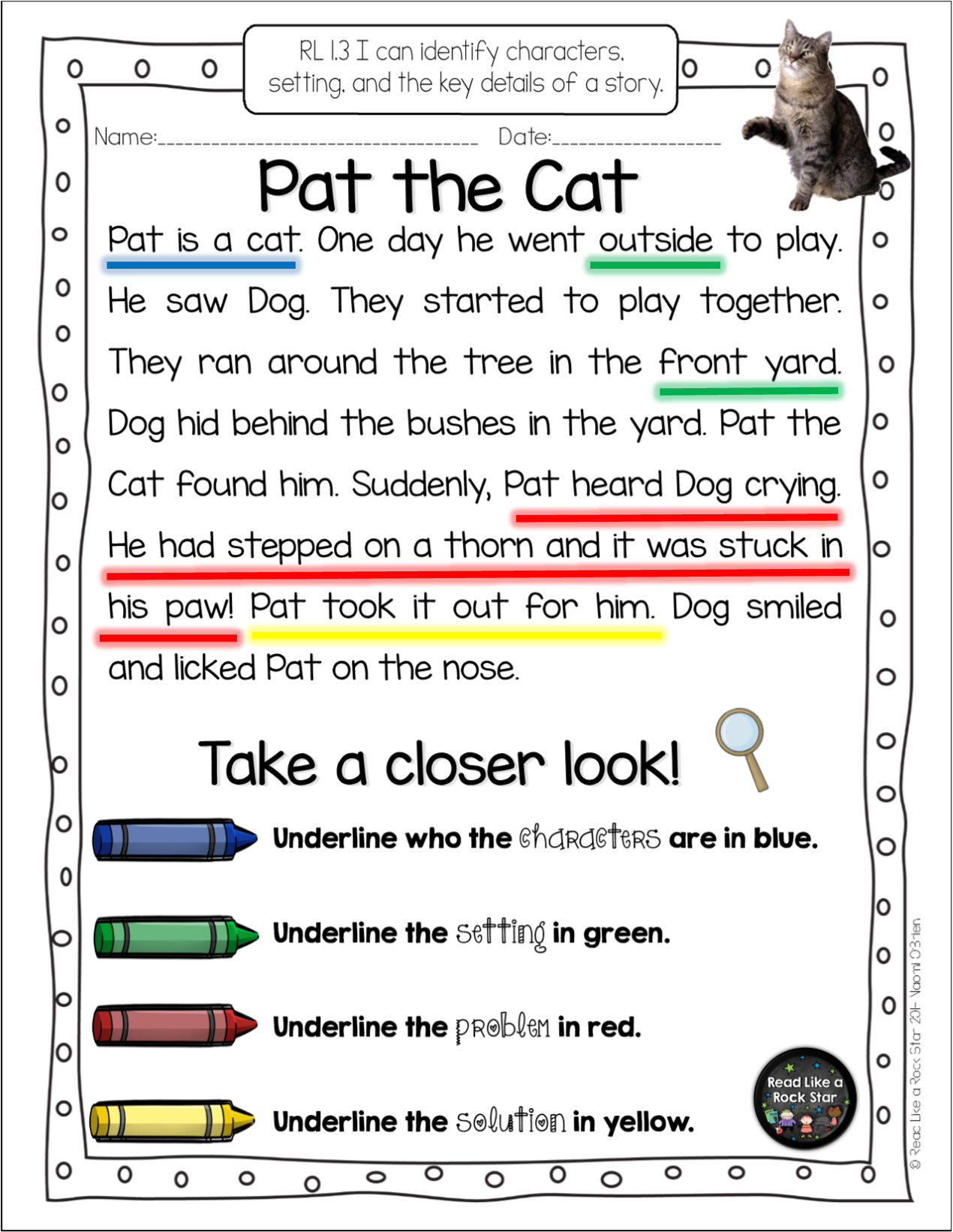 Take A Closer Look Close Reading For First Grade Common