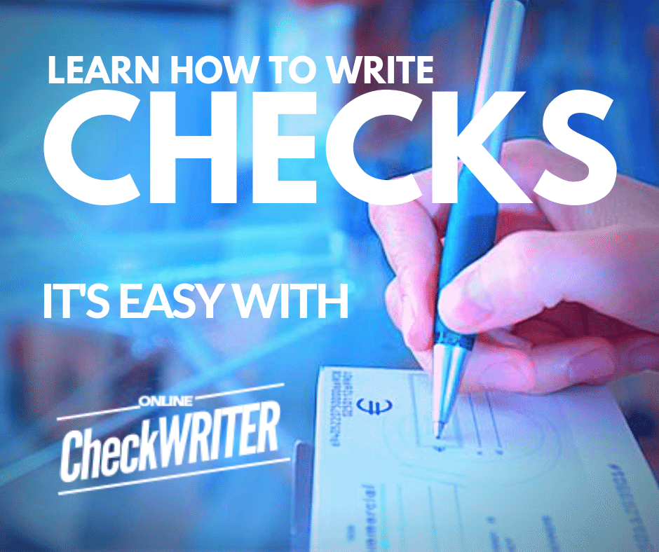 Write A Check Everybody Should Know How To Write A Check It S Very Easy Writing Software Writing Printing Software
