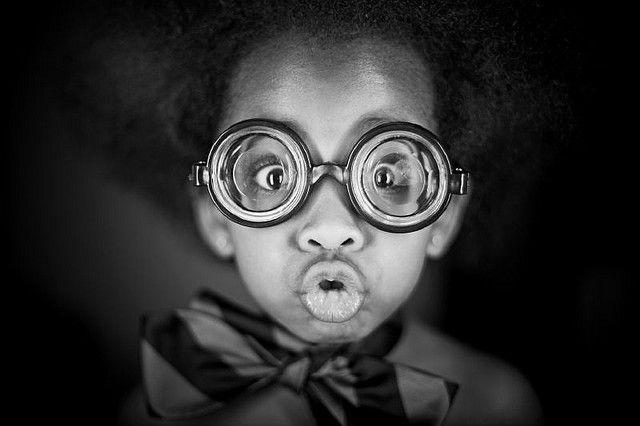 7ad1733b0cdf Great SCott!! | My work | Big glasses, Cute kids, Silly faces