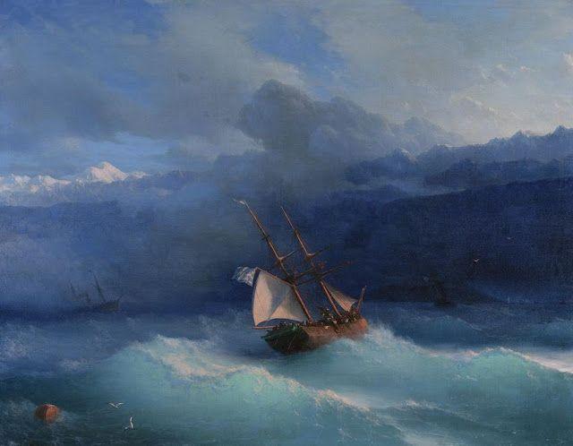 Ivan Aivazovsky (1817-1900), Le long de la Côte.