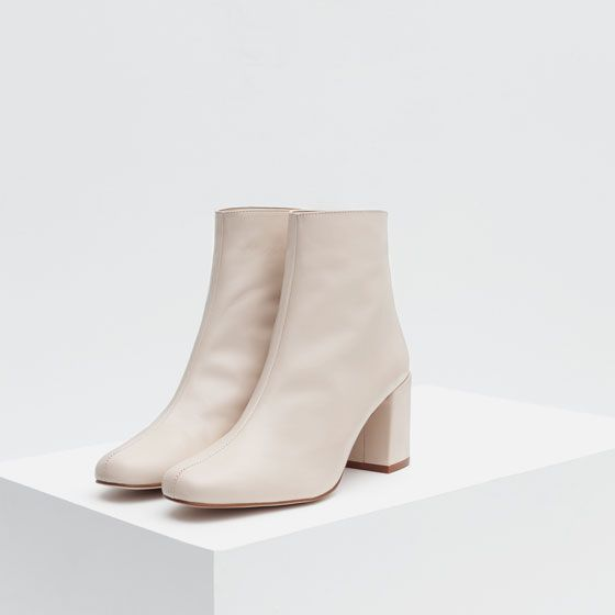 ZARA - COLLECTION SS16 - HIGH HEEL LEATHER ANKLE BOOTS WITH ZIP