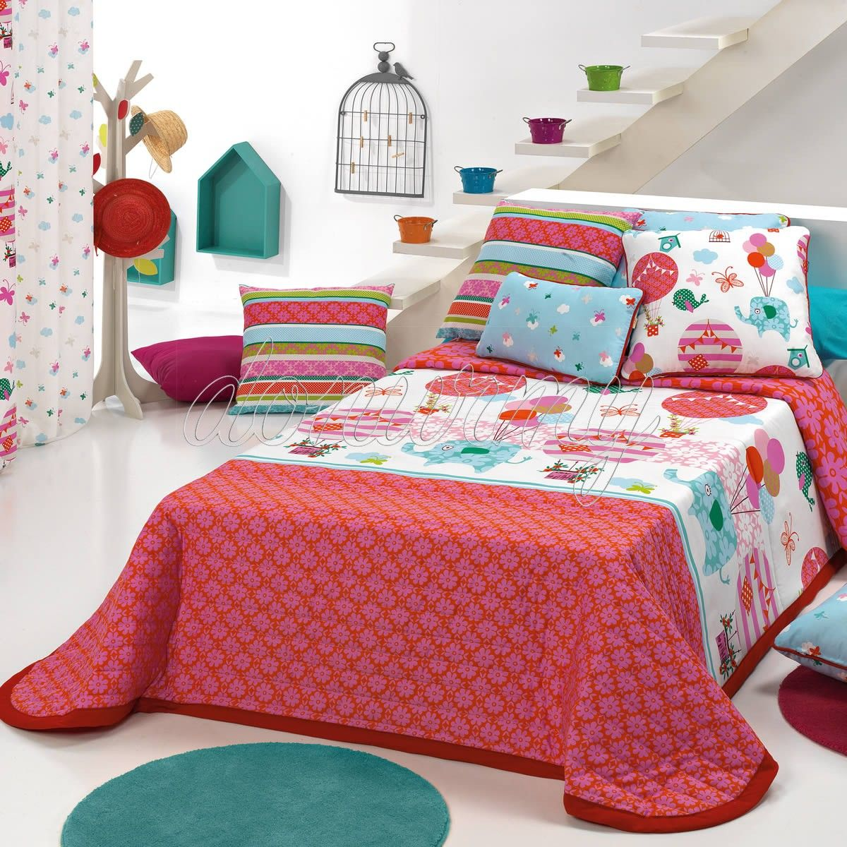 Colcha Bouti Globe Cañete | Colchas bouti, Ropa de cama y Camas