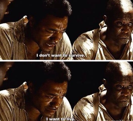charming life pattern: 12 years a slave - quote - movie - .. I want to li...