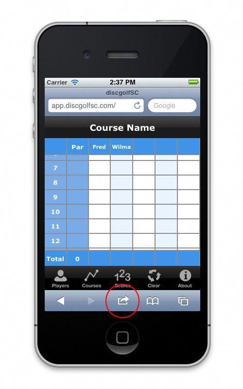 Disc Golf ScoreCard golfapps