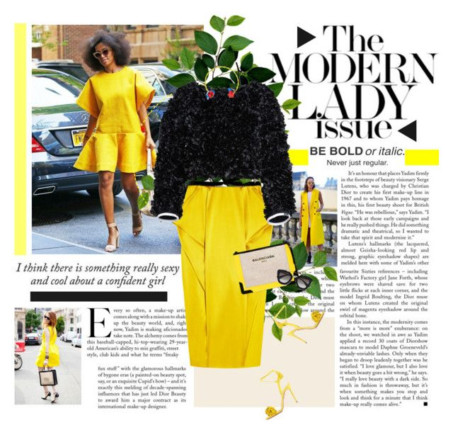 """""""Street style: yellow!"""" by minnie-me ❤ liked on Polyvore"""