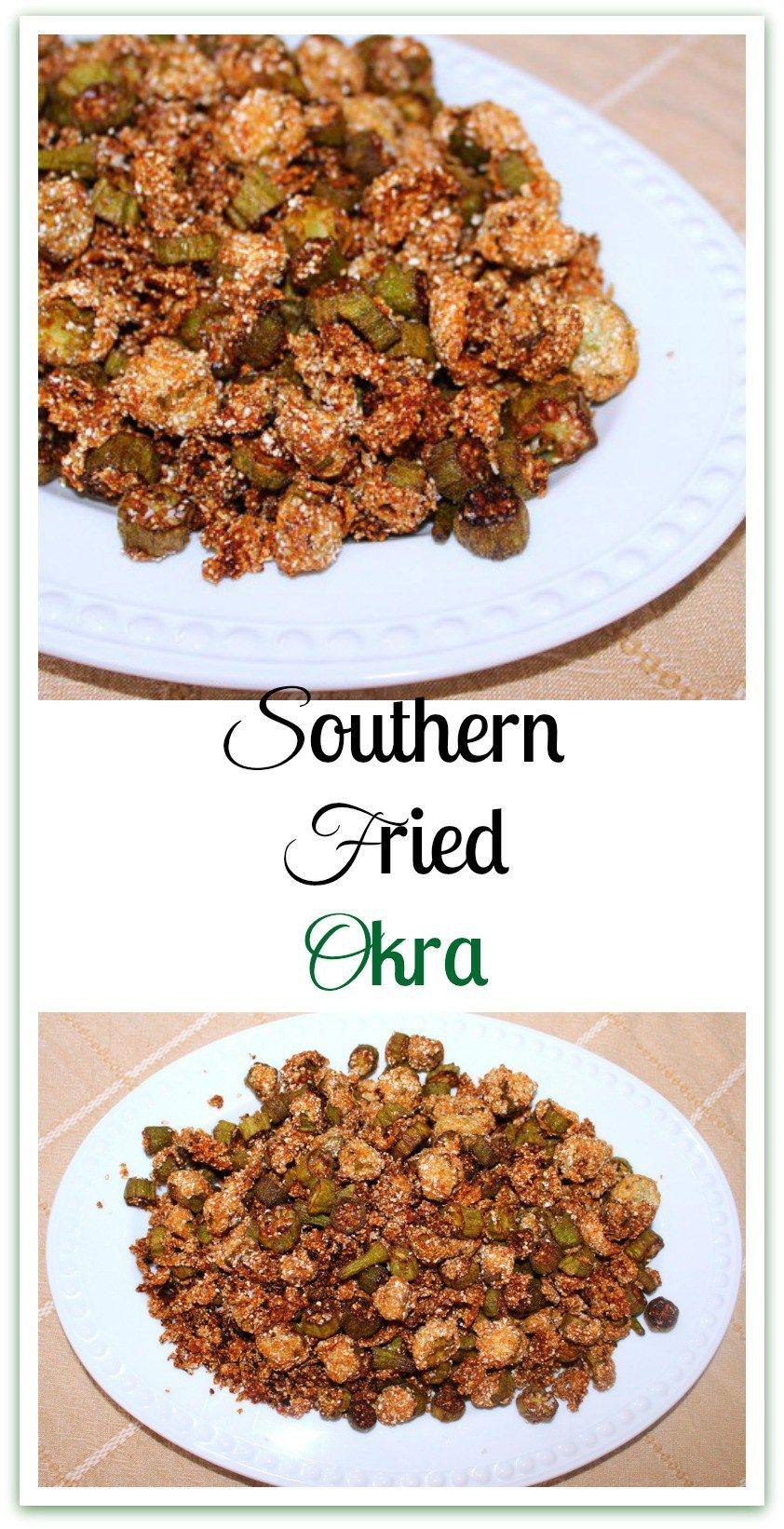 Southern Fried Okra Recipe Southern fried okra, Okra
