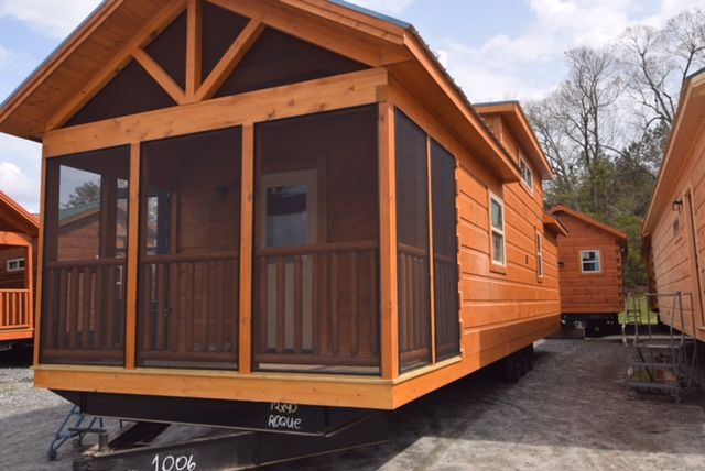 399 Sq Ft Park Model Tiny House by Green River Log Cabins in South Carolina