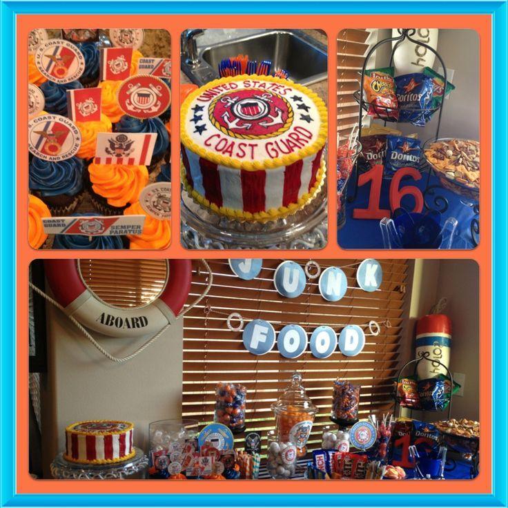 Decoration ideas for coast guard party | coastguard retirement party