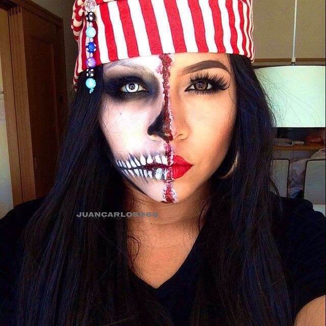 Mujer Pirata By Pao Halloween En 2018 Pinterest Maquillaje - Maquillaje-de-mujer-pirata