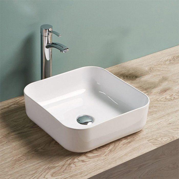 Ceramic Square Vessel Bathroom Sink in 2018 Modern Texas ranch