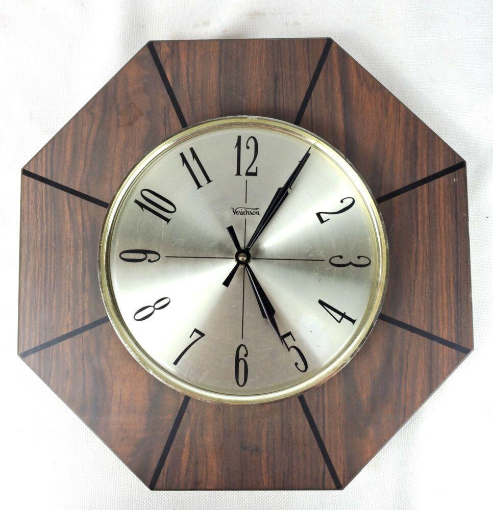 Mid Century Modern Verichron Battery Operated Wall Clock