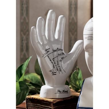 Porcelain Palmistry Hand A must have and perfect gift for any psychic
