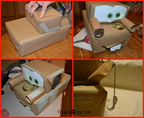 Tow Mater Valentines Card Box  Valentines Day  Pinterest  Tow