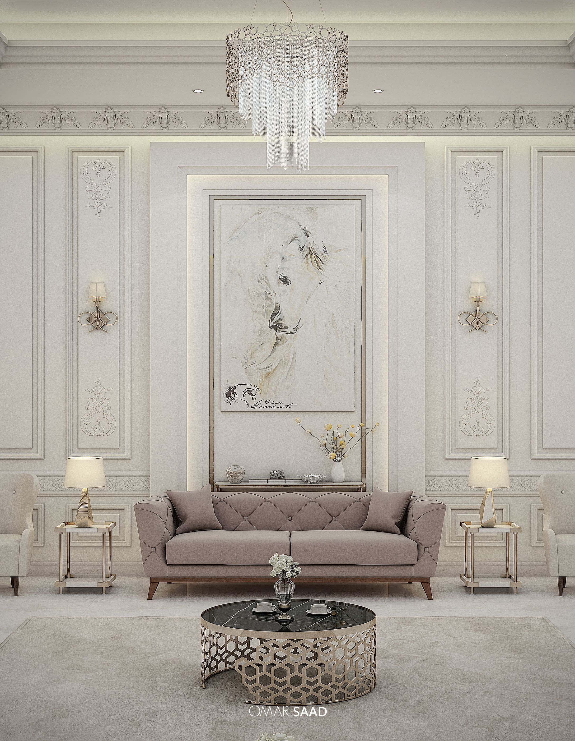 Room Design Interior: LUXURY CLASSIC VILLA