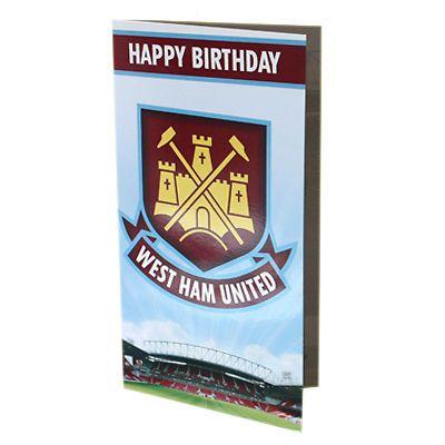 Official Football Club Birthday Cards Crest Badge No 1 Fan Pop Up Ebay Birthday Cards West Ham United Cards