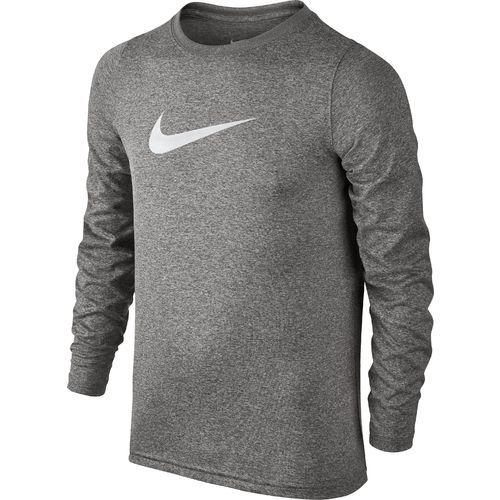 65a79f79bf8a1 Nike Boys  Legend Long Sleeve T-shirt (Dark Grey Heather White