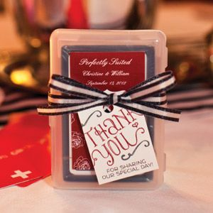 Favors Are Meant To Be Fun Look For Items That Your Guests Can Enjoy Post Wedding Like A Deck Of Playing Cards In Customized Case