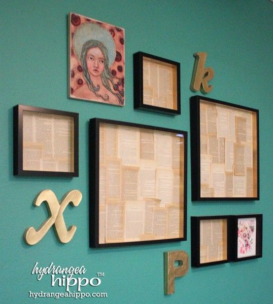 Librarian Chic on the Cheap - How to Make a Book Page Frame Collage ...