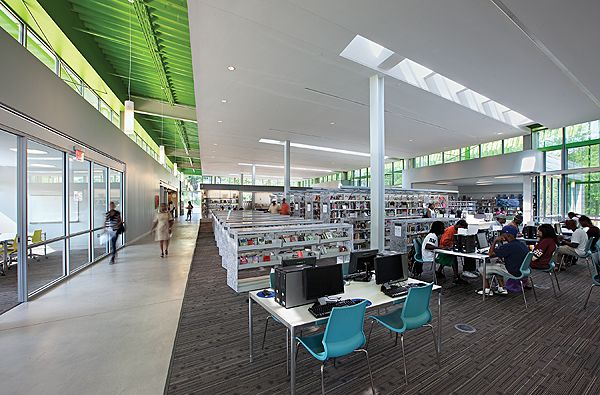 Built By The Freelon Group Architects In Washington United States With Surface Images Mark Herboth Anacostia Library Creates A Civic Building Of