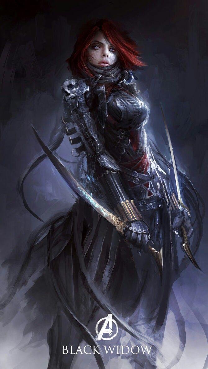 by theDURRRRIAN Black Widow Σχεδιασμός χαρακτήρα