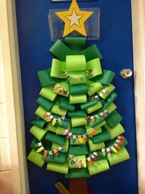 Decorar Arbol Navidad En Papel.El Arte De Educar Ideas Para Decorar La Puerta Del Aula
