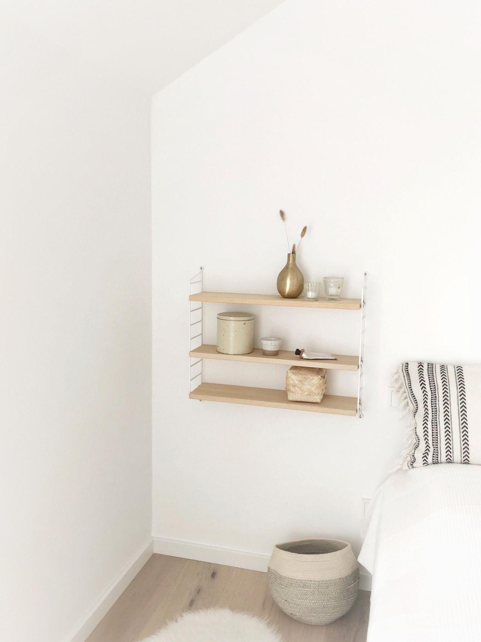 New in! #string#sleepingroom#pure#whiteandwood#whitehome