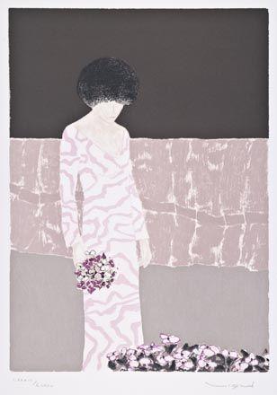Vigud, Andre, Femme avec fleurs II
