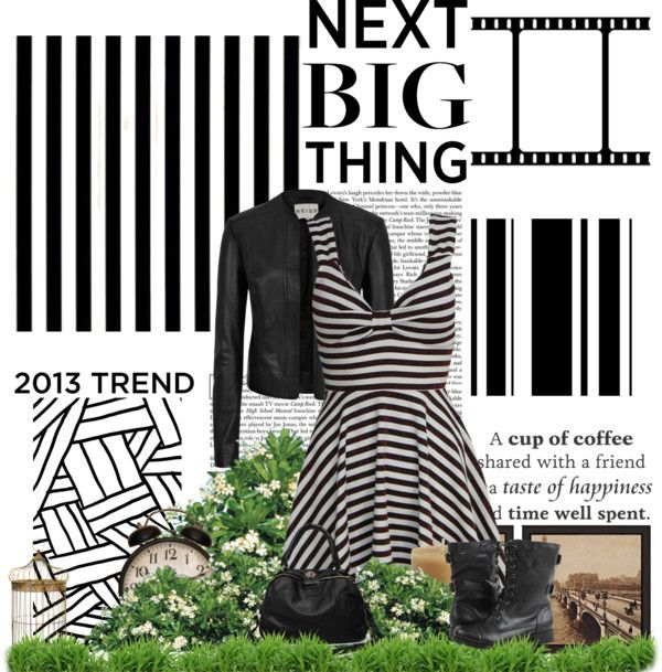 """Leather and Stripes"" by brooke-cierra on Polyvore"