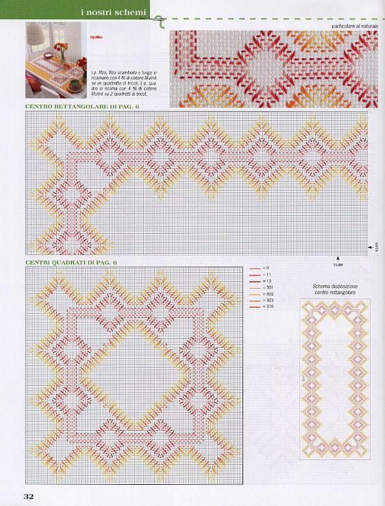 patrones | patrones punto yugoslavo | Pinterest | Bordado, Puntos y ...