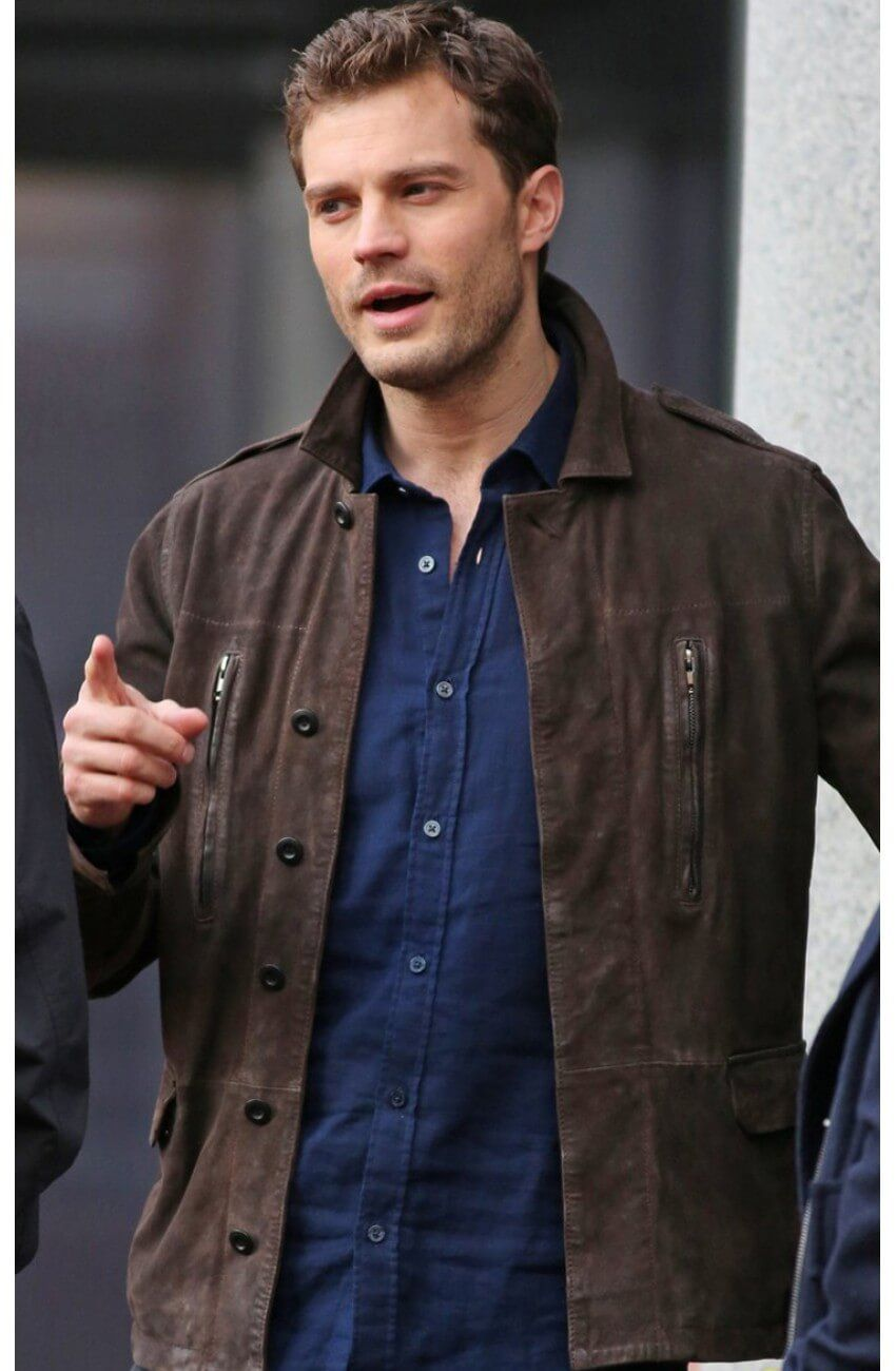 Leather jacket repair vancouver -  Fifty Shades Darker Christian Grey Leather Jacket Fiftyshades Fiftyshadesdarker