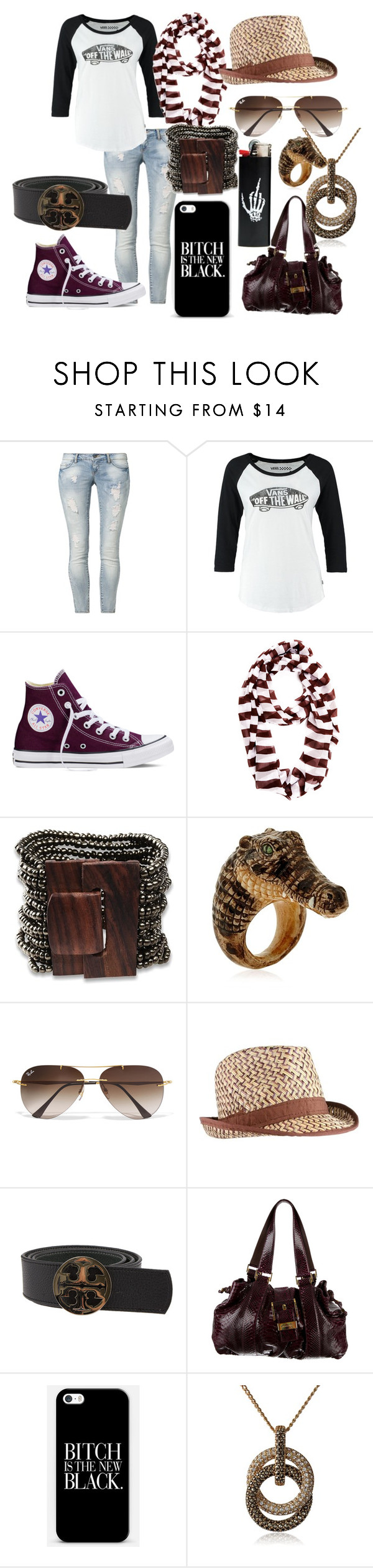 """""""Untitled #182"""" by alaina-dixon on Polyvore featuring ONLY, Vans, Converse, Henri Bendel, Nach, Ray-Ban, Tory Burch, Michael Kors, Judith Jack and women's clothing"""