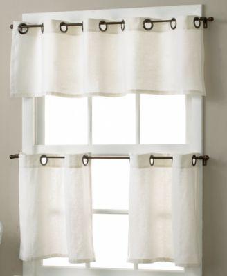 grommet kitchen curtains kitchens designs elrene essex linen 30 x 36 cafe pair tom s