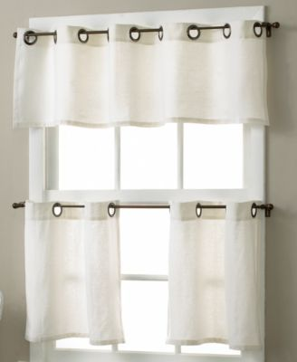 Elrene Es Linen Grommet 30 X 36 Cafe Curtains Pair